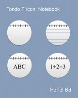 Tondo F Icon Set: Notebook by P3T3B3