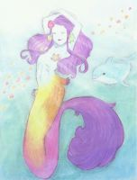 Mermaid (Chalk) by Sarah-Maxine