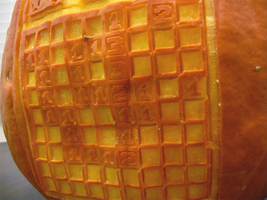Minesweeper Pumpkin Detail by ceemdee