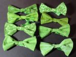 Fabric scrap bowties by TheSpazOutLoud