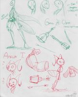 Grasshopper And The Ant Model Sheet by ChibiGuardianAngel