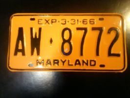 1966 maryland tag by USCGCitasca