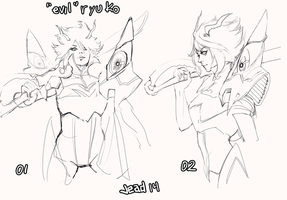 Evil ryuko 1 or 2? by Bomb-a-Jead