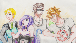 Adrian's best friends and flatmates by M3004