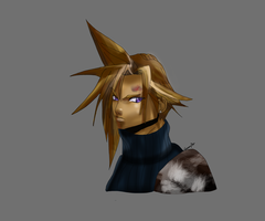 Cloud Strife Krita painting by Gman20999