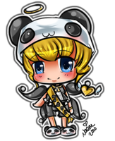 Panda Chibi Sticker by Naeru