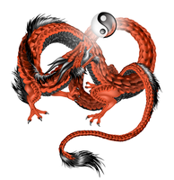 Vector Chinese dragon by LadyAway