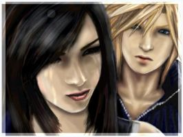 Cloud and Tifa by SH4D0W-ANG3L