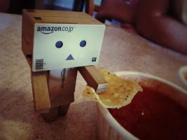 Danbo Likes Chips by GeekInDisguise