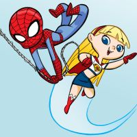 Spidey and Supergirl by tombancroft