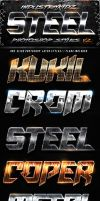 Metal Steel Photoshop Layers Styles V2 by Industrykidz