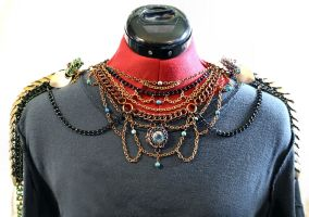 The Dragon Perch Necklace - Front View by SerenFey