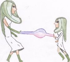 Gardevoir and Kirlia - People-ified by krislove45