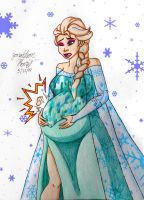 [Request] Pregnant Elsa by JAM4077