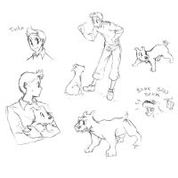Tintin doodles by TheFrenchGal