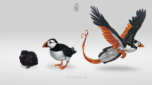 Puffin Phoenix by Blackpassion777