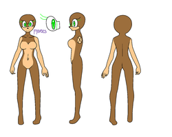 Reference Sheet: Female Mobian: Sonic. by Amies-Bases