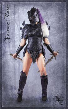 Drow or Dark Elf leather corset armour by Fantasy-Craft