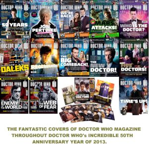 Doctor Who Magazine covers of 2013 by DoctorWhoOne