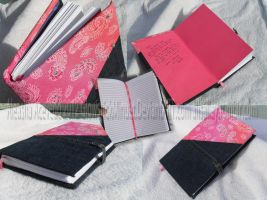 Hardbound denim journal by alisalley