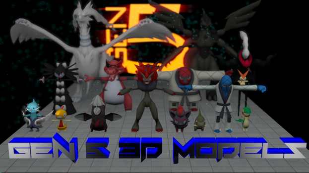 Gens 1-5 Pokemon Models! [3D DOWNLOAD] by TheModerator