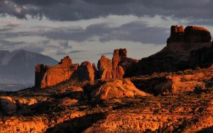 red rocks at sunset by ariseandrejoice