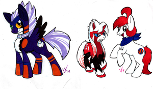 CollegeDoodles: Ponies by Rica-Fox-Prower