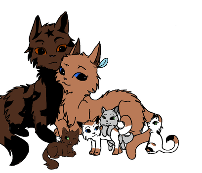 Mudtail and Bramblestar's 2nd litter of kits by computergeek1000
