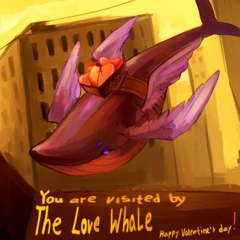 Love Whale by Ciclobot