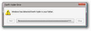 Darth Vader error by Dell-Guy