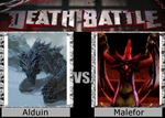 Death Battle - Alduin Vs Malefor by humanofprey