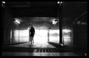 Girl walking in Stockholm by smeghead1976