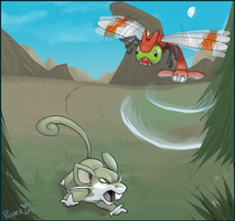 Shiny rattata vs Yanma by MrsDrPepper