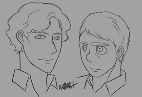 BBC_Sherlock Holmes and Watson_sketch by aulauly7