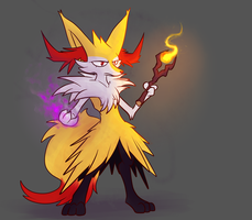 A Male Braixen, What by Wonder-Waffle