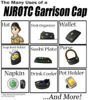 The Many Uses of a NJROTC Garrison Cap by TheGreatHushpuppy