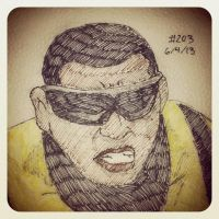 Napkin Art 203 - Power Man - Ultimate Spiderman by PeterParkerPA
