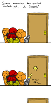 Metroid: Samus vs. a Door Pt.1 by doodlegarmander