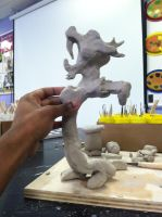 Statue of Discord WIP by InvdrScar