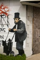 Banksy NOLA Lincoln by JebdiahBob