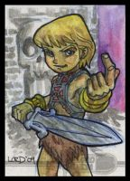 Lil He-Man Sketchcard by lordmesa