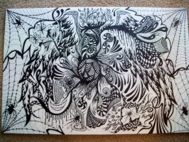 Abstract/Doodle on 20 x 30 foamboard by frustrated62