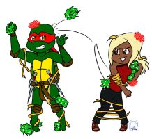 Commission: Raph and Shea by TMNT-Raph-fan