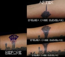 Fixing Stratosphere tattoo - Tattoo by Chelsea by SmilinPirateTattoo