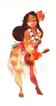 Hula girl by TB choi by TBchoi