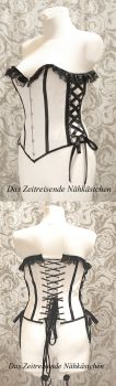Romantic Corset in black and white by Stahlrose