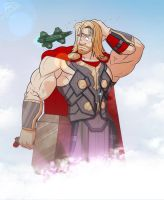 Giant Thor by leomon32