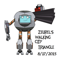 Triangle from Walking City by killerfortress