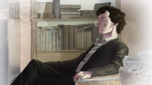 Sherlock thinking by AzurLazuly
