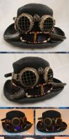 Old West Steampunk Buffalo-Horned Hat Band by Windthin